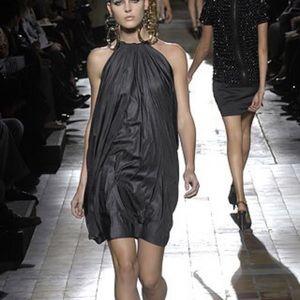 Lanvin grey parachute dress 2007 runway size 40 S